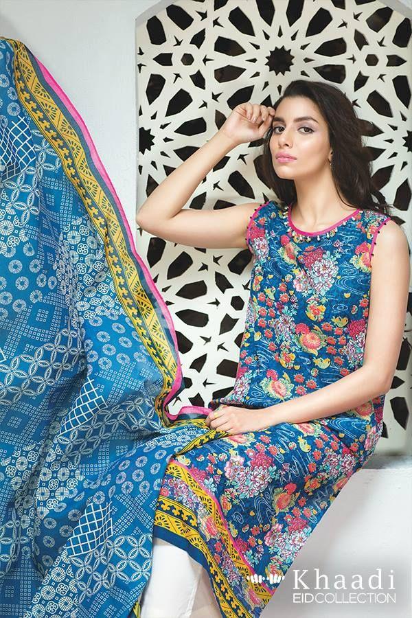 Khaadi Luxurious Chiffon Eid Collection 2016 for Girls