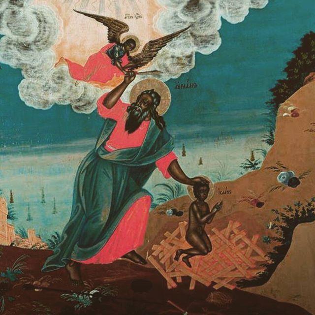 The Sacrifice of Isaac (Russian Icon) 1778 #israelites