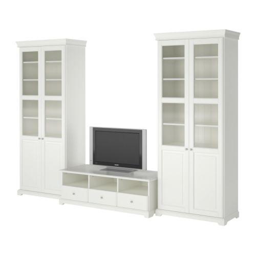 Liatorp agencement meuble t l blanc meuble tele ikea for Ikea agencement