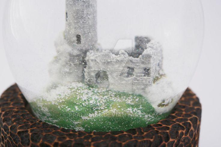 Juriperus manufacture three-dimensional logo, sealed in a snowball.