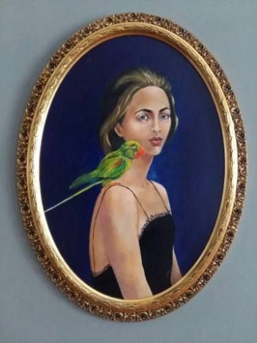 The Woman with a Green Parrot - Iulia Deme