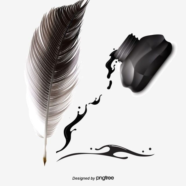 ناقلات ريشة قلم حبر حبر زخرفة اكتب Png وملف Psd للتحميل مجانا Quill Pen Quill And Ink Quilling