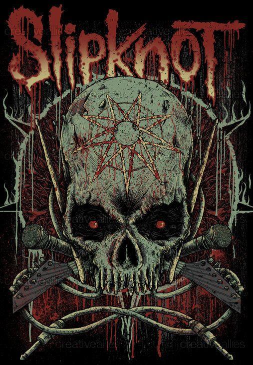 Slipknot Merchandise Graphic by Trockz on CreativeAllies.com