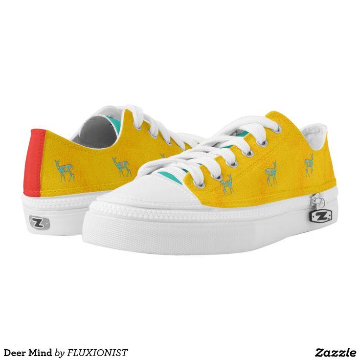 """Deer Mind"" Printed Shoes - $90.00 Made by Delta Custom / Design: Fluxionist"