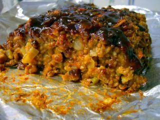 """Magic Loaf"": Vegan Meatloaf..... Ok it kind of sounds gross- and the picture looks weird, but I have this desire to try it! lol"