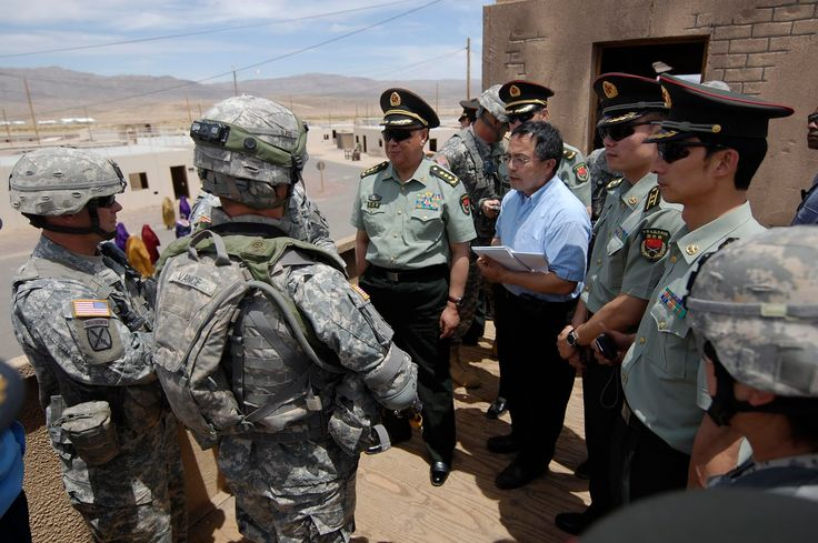 A Chinese People's Liberation Army delegation visits the U.S. Army National Training Center in Ft. Irwin California May 21 2011 [ 1600  1064 ]