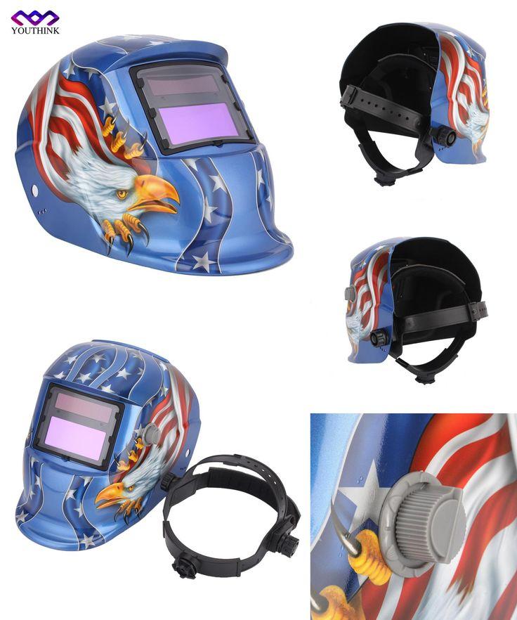 [Visit to Buy] Electric Welding Mask/Helmet/Welding Solar Automatic Darkening Helm Welder Mask TIG MIG MMA For Welding Machine OR Plasma Cutter #Advertisement