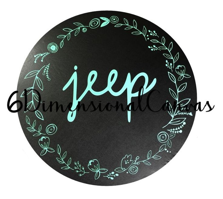 "https://www.etsy.com/shop/6DimensionalCanvas Come check out Our ""Laurels spare tire cover"" done in mint! Love!! ❤️❤️"