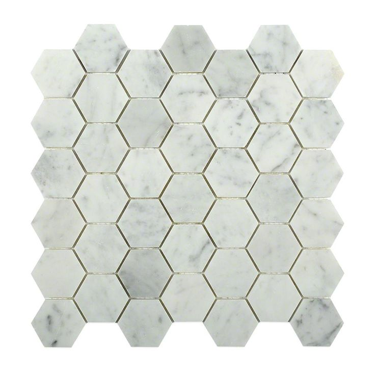 Splashback Tile Hexagon White Carrera 12 in. x 12 in. x 8 mm Floor and Wall Tile-HEXAGON WHITE CARRERA - The Home Depot