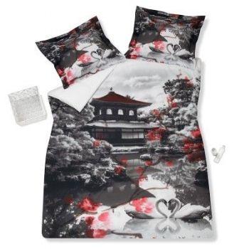 Japan dekbedovertrek 100% #katoen | Japon housse de couette | Japan duvet cover #flowers 100% #cotton