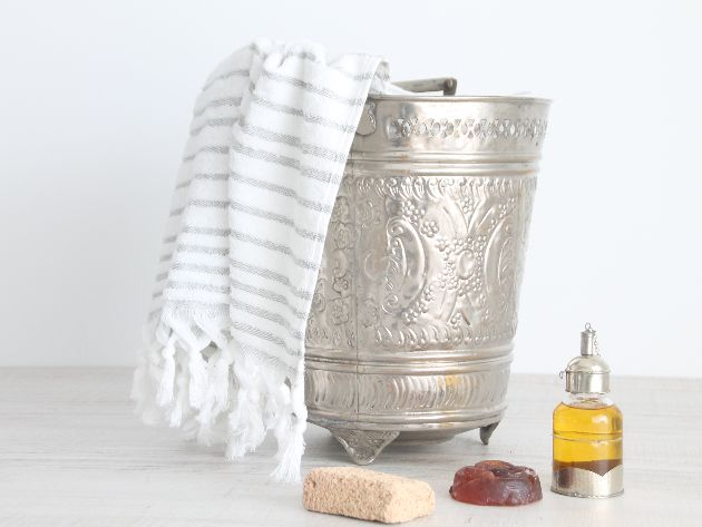 Cube hammam vintage cubo de metal vintage marroqu para for Cube suites istanbul