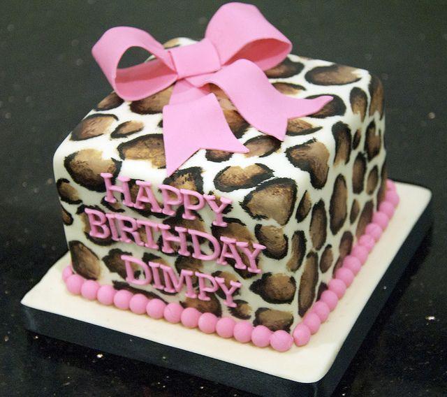 leopard print birthday cake toronto by www.fortheloveofcake.ca, via Flickr