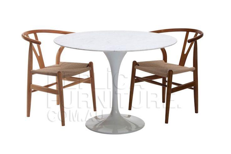 Replica Eero Saarinen Marble Tulip Dining Table 100 cm with ...