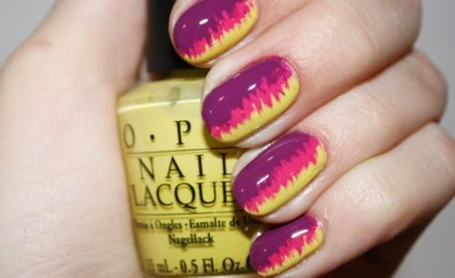 I like this!: Nails Art Tutorials, Nailart, Color, Nailpolish, Summer Nails, Nails Ideas, Nails Polish, Neon Nails, Nails Tutorials