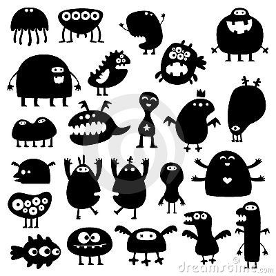 Monster Silhouettes