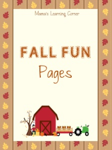 Fall Fun Pages Worksheet Packet