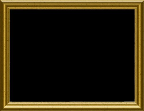 gold frame transparent background