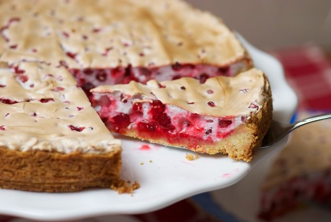 Delicious homemade red current pie.