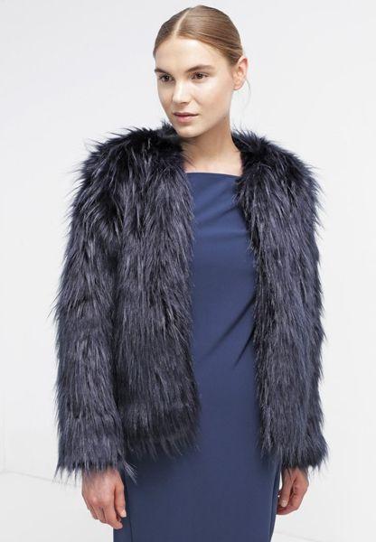 Winterjacken 2015: Blaue Kunstfell-Jacke