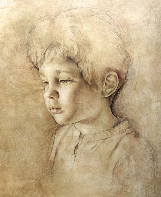 Untitled portrait of a boy by Italian Artist: Maria Teresa Meloni