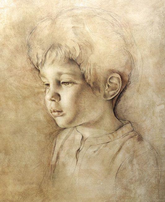 Untitled portrait by Italian Artist: Maria Teresa Meloni