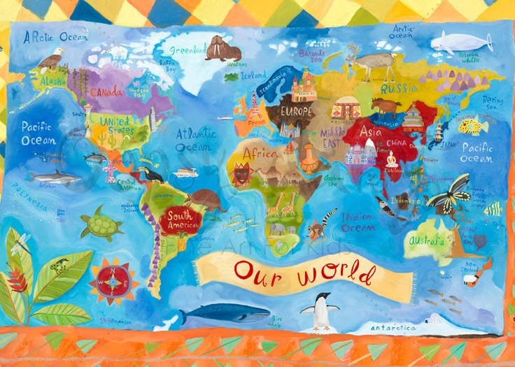 1000 images about kids learning placemats on pinterest for Kids room world map