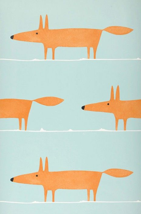 What does the Fox say | Papier peint des années 70