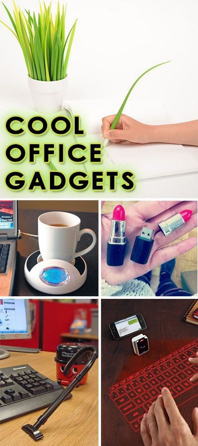 Cool Office Gadgets - Lots of Cool Gift Ideas! Literally just loving that grass pen set.