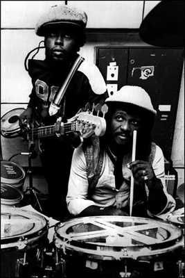 Sly & Robbie- the duo who is Jamaica's leading rhythm section, and pioneer the reggae beat they also later on created the rub-a-dub in dancehall.