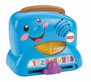Laugh and Learn Peek-a-Boo Toaster The music and lights entertain your baby and they will like it when the toast pops up. http://awsomegadgetsandtoysforgirlsandboys.com/fisher-price-toys-12-24-months/ Laugh and Learn Peek-a-Boo Toaster