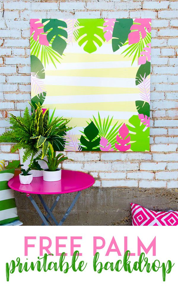 photo relating to Printable Backdrop titled Totally free PRINTABLE Luau Backdrop Printables Backdrops for