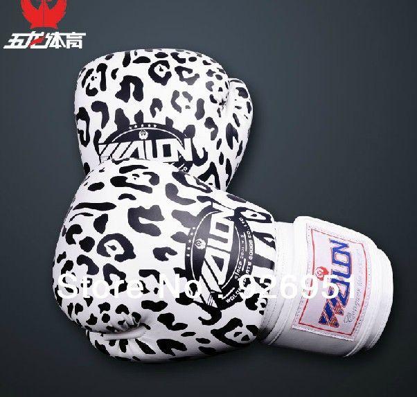Продавец рекомендуем! мужчины/женщины 10 УНЦ. профессия боксерские перчатки леопардовым узором ММА Санда/ногами Боксерские Перчатки сексуальные Перчатки