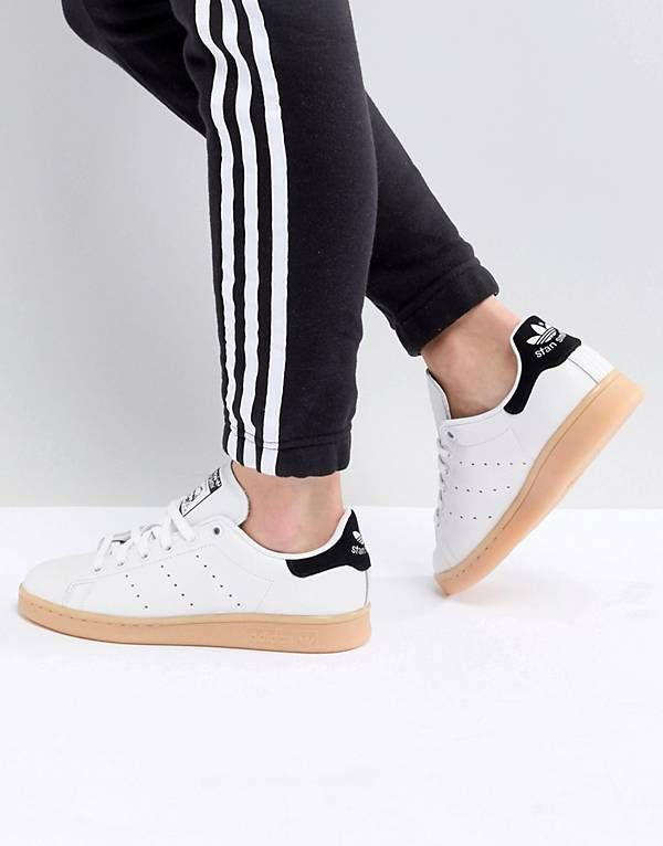 63344d39c2 adidas Originals Stan Smith Sneakers In Off White With Gum Sole | SS ...