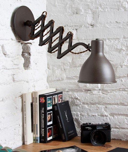 Aplique de pared estilo industrial vintage en acabado for Paredes estilo industrial