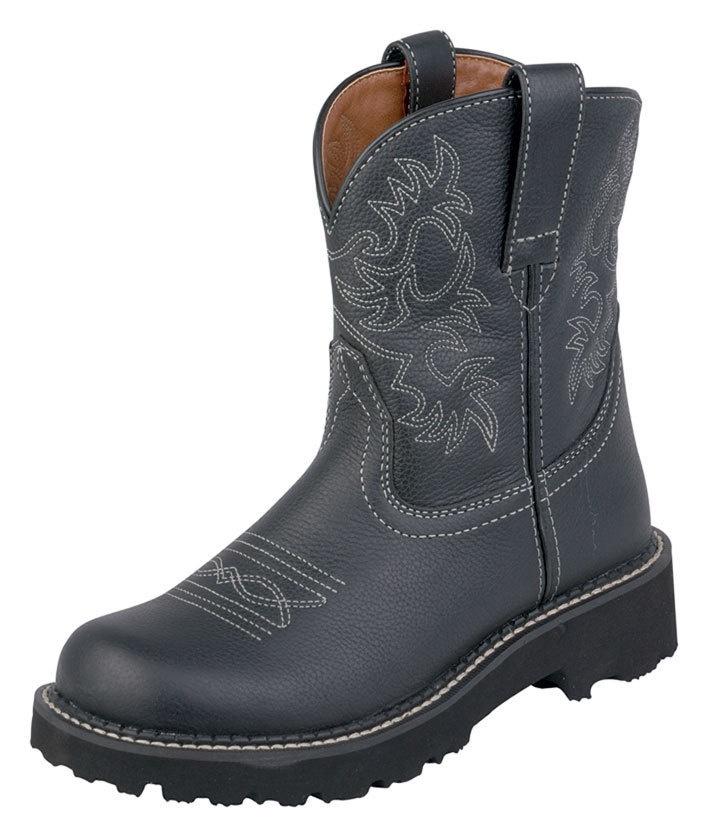 ariat fatbaby boots western cowboy 7 b black deertan