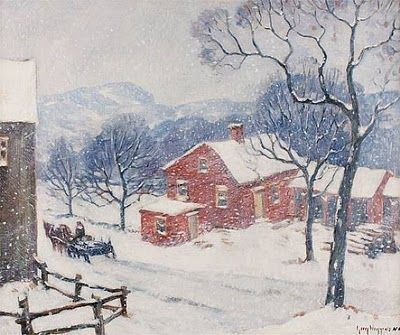 Winter Painting By Guy Wiggins American Impressionist