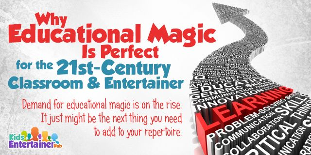 "Education + magic is the combination to watch out for today. Learn all about it—as well as 3 easy & amazing maths & magic ""tricks"" you can use—right here: http://kidsentertainerhub.com/why-educational-magic-is-perfect-for-the-21st-century-classroom-and-entertainer/"