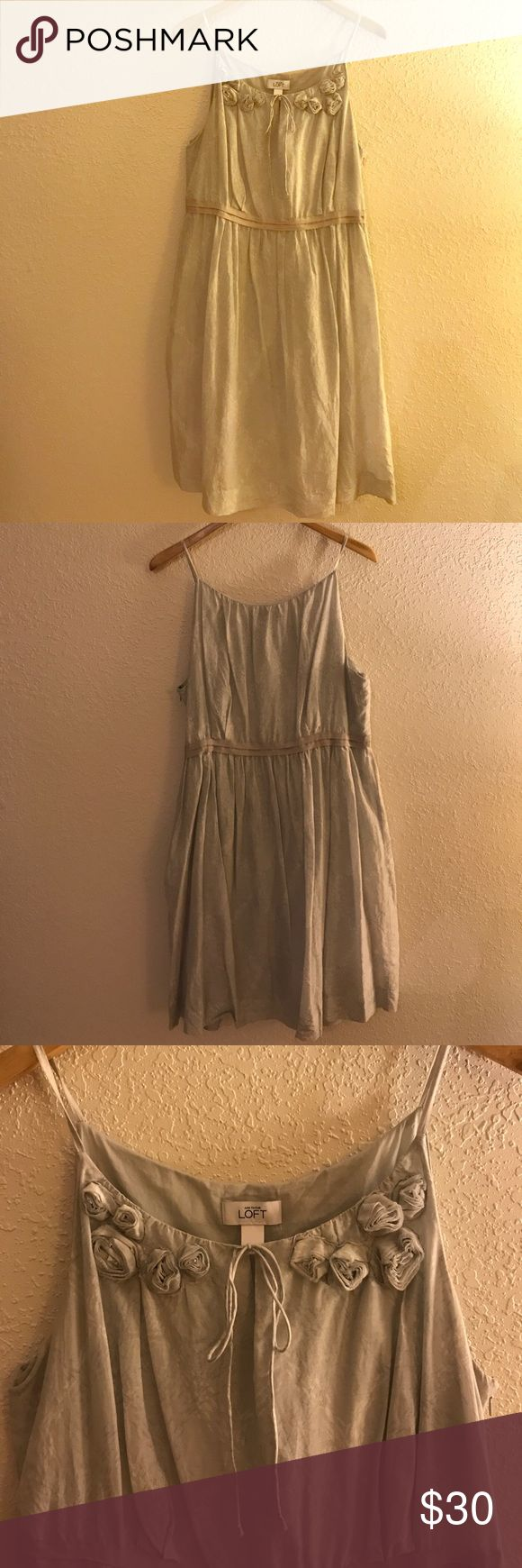 LOFT Dress Shades of gray. Shell: 70% cotton, 30% silk. Lining: 100% cotton. Open to offers! LOFT Dresses