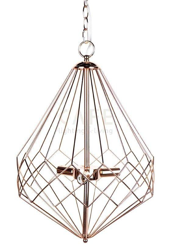 Portland Gold Plated Wire Pendant Light - Zest Lighting