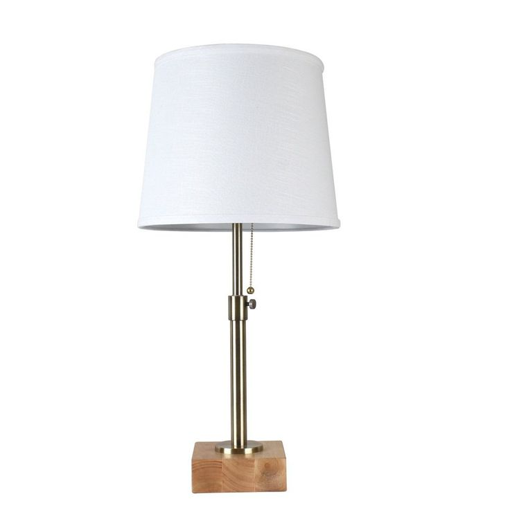 Lampworks h table lamp wood base with white fabric lamp shade desk lamps elegant design light up your home you can find more details by visiting the