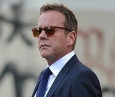 Kiefer Sutherland Suited Up wearing Oliver Peoples Ndg Sunglasses Out in NYC | UpscaleHype