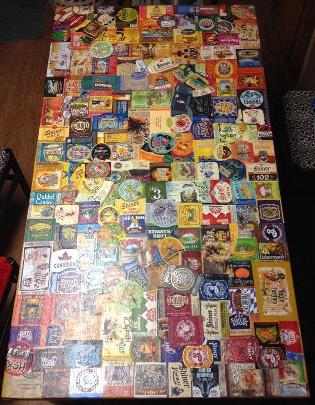 Drink enough different kinds of craft beer that you can decorate your coffee table with the coolest labels.