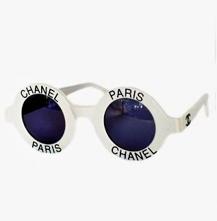 sunglasses #Chanel love the shape etc...but wouldn't wear them due the label