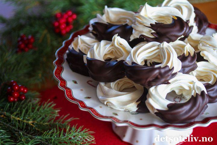 Marengsringer med sjokolade   Det søte liv