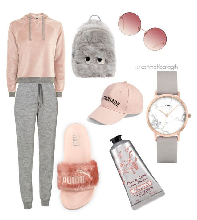 """""""Nude & grey"""" by karimahabdul on Polyvore featuring Puma, Amici Accessories, Anya Hindmarch, Icebreaker, Topshop, Linda Farrow and CLUSE"""