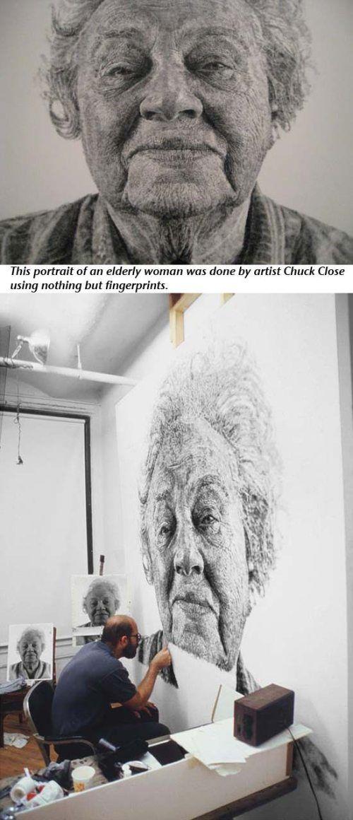 wild: Fingerpaint Portraits, Ugg Boots, Fashion Style, The Artists, Fingers Paintings, Finger Painting, Chuck Close, Fingerprints Art, Fanny Fingerpaint