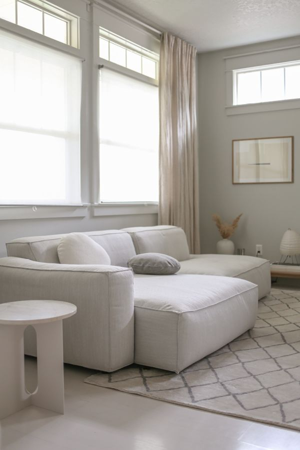 Solae Chill White Left Sectional Furniture Apartment Decor