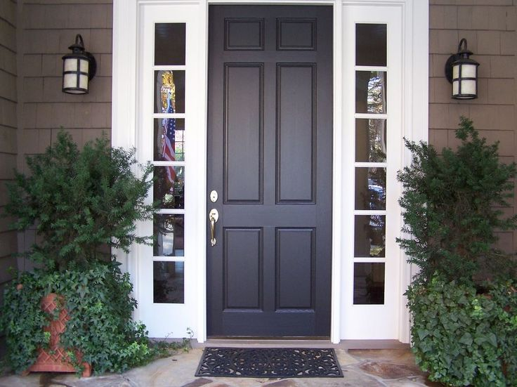 72 Best Images About Entry Doors On Pinterest Entry Door With Sidelights Black Doors And Fall