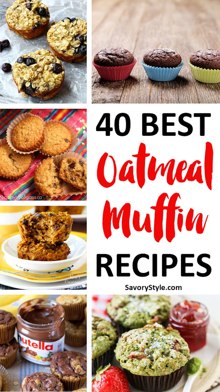 40 amazing oatmeal muffin recipes which are just too good to miss. A great selection of both healthy and delicious recipes in this roundup