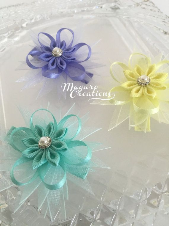 Hair clipshair bowsbaby bowsflower hair by MagaroCreations on Etsy